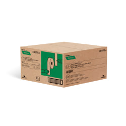 Cascades Moka 2-Ply Toilet Paper, 100% Recycled, Beige, 1000 Sheets x 12 Rolls
