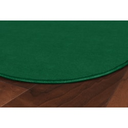 """Flagship Carpets Americolors Rug, Oval, 7' 6"""" x 12', Clover Green"""