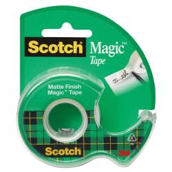 """Scotch® Magic™ Tape In Dispenser, 3/4"""" x 600"""", Clear"""
