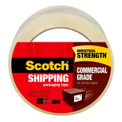 """Scotch® Commercial Grade Packing Tape, 1-7/8"""" x 54.6 Yd., Clear"""