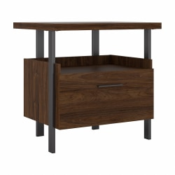 "Bush Business Furniture Architect 30-1/3""W Lateral 1-Drawer File Cabinet, Modern Walnut, Standard Delivery"