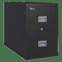 "FireKing® Patriot 31-5/8""D Vertical 2-Drawer File Cabinet, Metal, Black, White Glove Delivery"