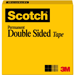 "Scotch® Double-Sided Tape, 1/2""x 1,296"", Clear"