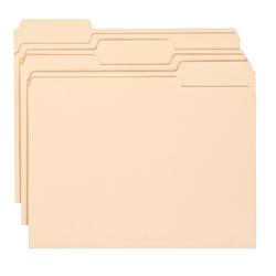 Office Depot® Brand Economy File Folders, 1/3 Cut, Letter Size, Manila, Pack Of 150