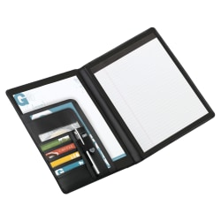 Office Depot Brand® Padfolio With Flap Pockets, Black