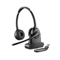 Plantronics® Savi W420 Wireless PC Headset System, Black