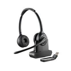 Plantronics® Savi W420-M Wireless PC Headset System, Black