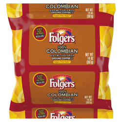 Folgers® Single-Serve Coffee Packets, Colombian, 1.4 Oz Per Bag, Carton Of 40 Bags