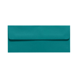 "LUX Envelopes With Peel & Press Closure, #10, 4 1/8"" x 9 1/2"", Teal, Pack Of 50"