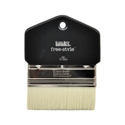 "Liquitex Free-Style Large-Scale Paint Brush, 4"", Flat Bristle, Paddle-Cut, Black"