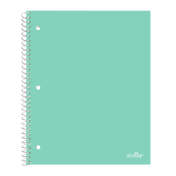 "Office Depot® Brand Stellar Poly Notebook, 8"" x 10-1/2"", Wide Ruled, 200 Pages (100 Sheets), Mint"