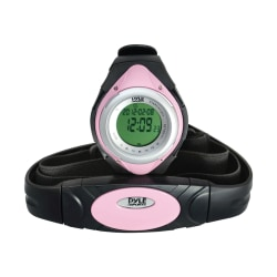 Pyle PHRM38PN Heart Rate Monitor Watch, Pink