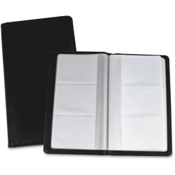 "Lorell® Vinyl Business Card Storage Holder, 7""L, Black"