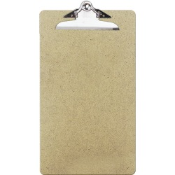 "OIC® 100% Recycled Hardboard Clipboard, Legal Size, 9"" x 15 1/2"", Brown"