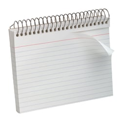 "Oxford® Spiral-Bound Index Cards, Ruled, 4"" x 6"", White, Pack Of 50"