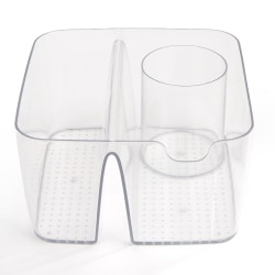 Mind Reader Acrylic Cosmetic Storage Organizer, 5 Compartments, Clear