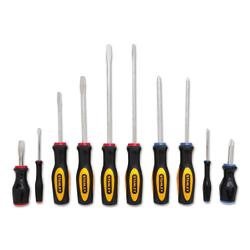 Stanley Tools 10-Piece Standard Fluted Screwdriver Set