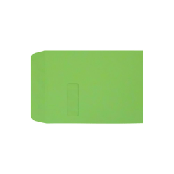 "LUX Open-End Window Envelopes With Peel & Press Closure, #9 1/2, 9"" x 12"", Limelight, Pack Of 1,000"