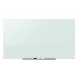 """Quartet® InvisaMount™ Magnetic Glass Unframed Dry-Erase Whiteboard, 74"""" x 42"""", White"""