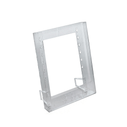 "Azar Displays 1-Pocket Crystal Styrene Modular Brochure Holders, 11 1/4""H x 9""W x 1 1/4""D, Clear, Pack Of 10"