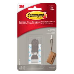 3M Command™ Modern Metal Hook, Medium, Silver