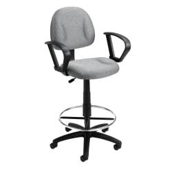 Boss Drafting Stool, Gray/Chrome, B1617-GY