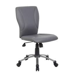 Boss Tiffany Modern Ergonomic Mid-Back Office Chair, Gray