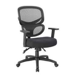 Boss Multifunction Mid-Back Task Chair, Black
