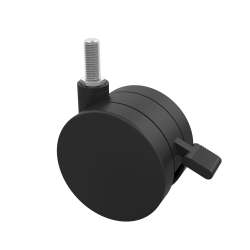 "Marco Group Apex Series Locking Dual-Wheel Casters, 3"", K Stems, Black, Pack Of 2"