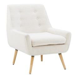 Linon Guthrie Accent Chair, Natural/White