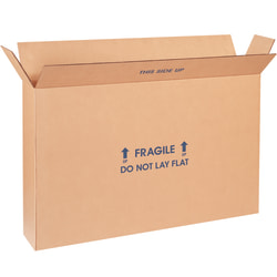 "Office Depot® Brand FOL Heavy-Duty Flat Panel TV Storage Boxes, 20"" x 6"" x 28"", Kraft, Case Of 5"