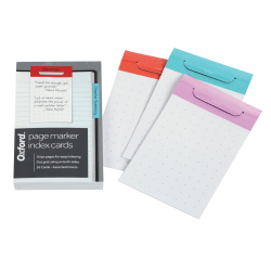 "Oxford® Index Card Page Markers, 3"" x 5"", Assorted Colors, Pack Of 36 Markers"
