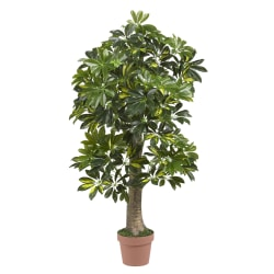 Nearly Natural 4' Schefflera Tree, Green