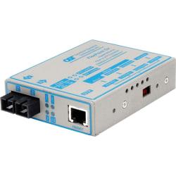 FlexPoint 1000Mbps Gigabit Ethernet Fiber Media Converter RJ45 SC Single-Mode 12km - 1 x 1000BASE-T; 1 x 1000BASE-LX; US AC Powered; Lifetime Warranty
