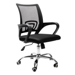 Mind Reader Ergonomic Mesh Mid-Back Rolling Office Chair, Black