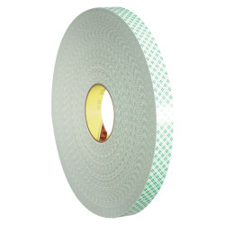 "3M™ 4032 Double-Sided Foam Tape, 3"" Core, 0.75"" x 216', Natural"