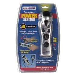 Ready America® Emergency Dynamo Crank Power Station, Case of 4 Power Stations