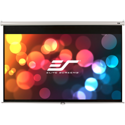 """Elite Screens Manual Series - 100-INCH 16:9, Pull Down Manual Projector Screen with AUTO LOCK, Movie Home Theater 8K / 4K Ultra HD 3D Ready, 2-YEAR WARRANTY , M100XWH-E24"""""""