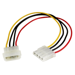 StarTech.com 12in LP4 Power Extension Cable - M/F - For Hard Drive - 18 Gauge - 1 ft Cord Length - 1