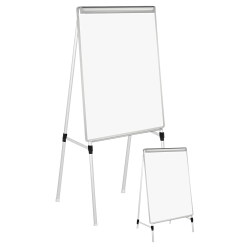 "Universal® Adjustable Dry-Erase Board, 41"" x 29"", Silver Aluminum Frame"