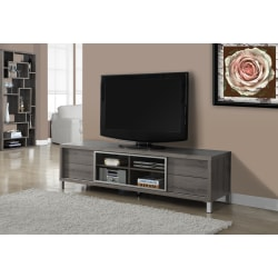 """Monarch Specialties Euro-Style TV Stand For TVs Up To 70"""", Dark Taupe"""