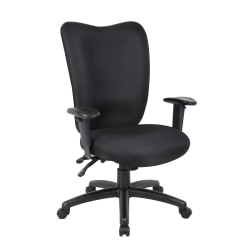 Boss Office Products Extended Comfort Fabric Task Chair, Black