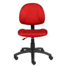Boss Microfiber Task Chair, Red