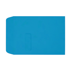 "LUX Open-End Window Envelopes With Peel & Press Closure, #9 1/2, 9"" x 12"", Pool, Pack Of 50"