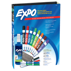 EXPO® Low-Odor Dry-Erase Kit, Assorted Colors
