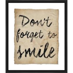 """PTM Images Framed Wall Art, Smile I, 25 1/2""""H x 21 1/2""""W"""
