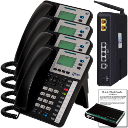 XBLUE X25 VoIP Phone System With 4 X3030 IP Phones