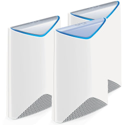 NETGEAR Orbi Pro AC3000 Business Mesh WiFi System, SRK60 - 2.40 GHz ISM Band - 5 GHz UNII Band - 375 MB/s Wireless Speed - 3 x Network Port - 1 x Broadband Port - Gigabit Ethernet - Ceiling Mountable, Wall Mountable, Desktop