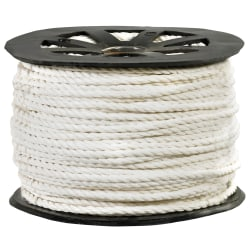 """Office Depot® Brand Twisted Polypropylene Rope, 2,450 Lb, 3/8"""" x 600', White"""