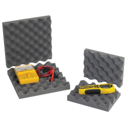 """Office Depot® Brand Convoluted Foam Sets, 2""""H x 6""""W x 6""""D, Charcoal, Case Of 64"""